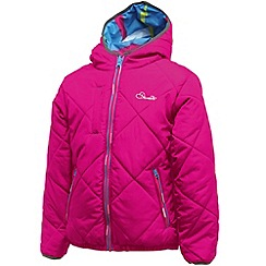 Dare 2B - Electric pink girls whimsical reversible jacket