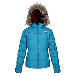 Dare 2B - Girls Blue emulate waterproof/breathable jacket