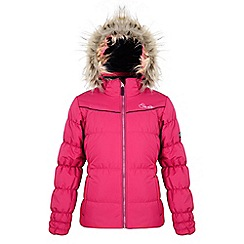 Dare 2B - Girls Electric pink emulate waterproof/breathable jacket