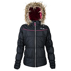 Dare 2B - Girls Black emulate waterproof/breathable jacket