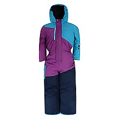 Dare 2B - Kids Blue prankster waterproof all in one snowsuit