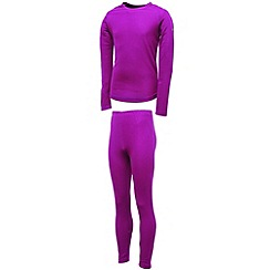 Dare 2B - Fuchsia kids cool off ii base layer set