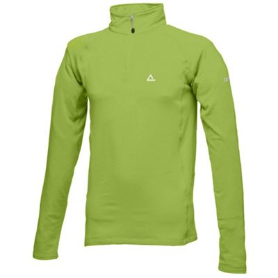 Green Mens Lightweight Fleece 1/2 Zip Jacket