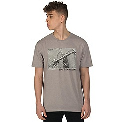 Dare 2B - Grey behind bars print t-shirt