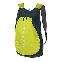 Dare 2B - Ebony/yellow silicone packaway rucksack