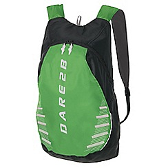 Dare 2B - Ebony/green silicone packaway rucksack