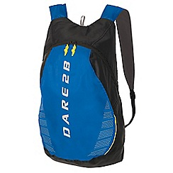 Dare 2B - Ebony/blue silicone packaway rucksack