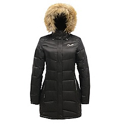 Dare 2B - Black spiralled down lonline parka