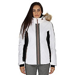 Dare 2B - White Captivate waterproof ski jacket