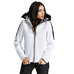 Dare 2B - Cream/white 'Plica' luxe waterproof ski jacket