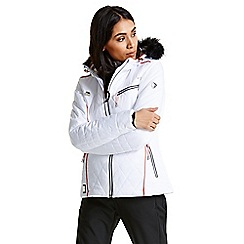 Dare 2B - White 'Ornate' luxe waterproof ski jacket
