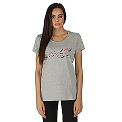 Dare 2B - Grey feathery print t-shirt