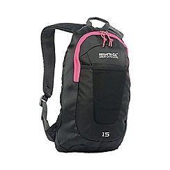 Regatta - Black/pink womens bedabase 15l rucksack