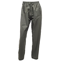 Regatta - Grey Packaway waterproof trousers
