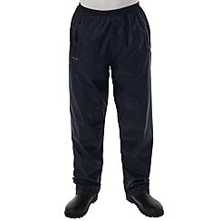 Regatta - Navy Packaway waterproof trousers