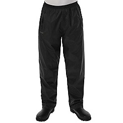 Regatta - Black Packaway waterproof trousers