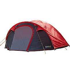 Regatta - Red and grey Kivu 4 man tent