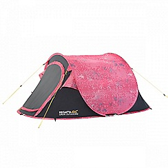 Regatta - Pink Malawi print 2 man pop up tent
