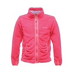 Regatta - Pink elliemae girls full zip fleece