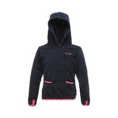 Regatta - Navy girls gopher zip fleece