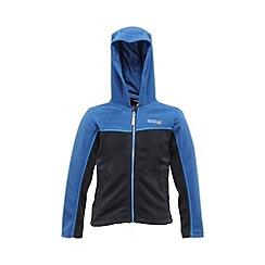 Regatta - Blue/navy kids unisex marty zip-up fleece