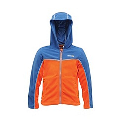 Regatta - Blue/orange kids unisex marty zip-up fleece
