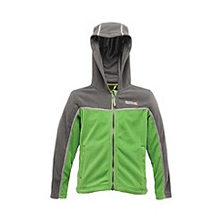 Regatta - Grey/green kids unisex marty zip-up fleece