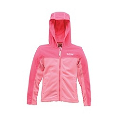 Regatta - Pink kids unisex marty zip-up fleece