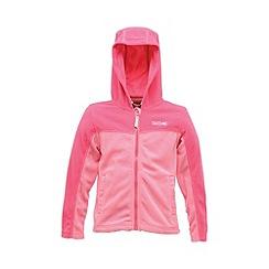 Regatta - Pink kids unisex marty zip-up fleece