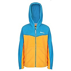 Regatta - Boys Yellow/ turquoise marty zip-up hodded fleece