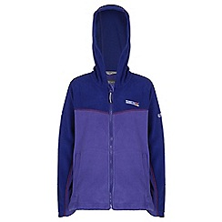 Regatta - Girls Purple marty zip-up hodded fleece