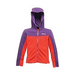 Regatta - Purple/pink kids unisex marty zip-up fleece