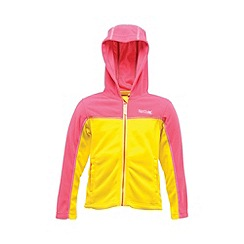 Regatta - Pink/yellow kids unisex marty zip-up fleece