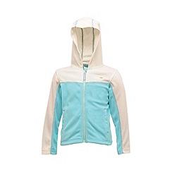 Regatta - White/aqua kids unisex marty zip-up fleece