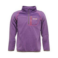 Regatta - Purple heart kids breaktrail half zip fleece