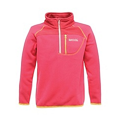 Regatta - Jem pink kids breaktrail half zip fleece