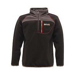 Regatta - Black kids breaktrail half zip fleece