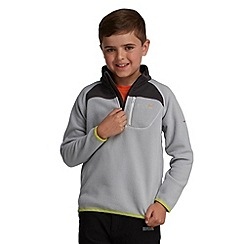 Regatta - Light grey kids breaktrail half zip fleece