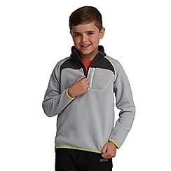 Regatta - Light grey kids breaktrail half zip fleece
