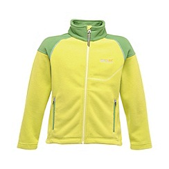 Regatta - Lime kids breaktrail full zip fleece