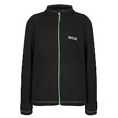 Regatta - Boys Black/ green kids king full zip fleece
