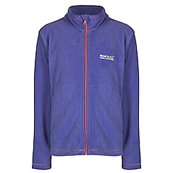 Regatta - Girls Purple kids king full zip fleece