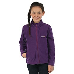 Regatta - Girls Purple King full zip fleece