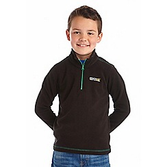 Regatta - Boys Black green kids hot shot fleece