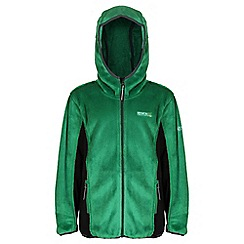 Regatta - Boys Highland green cuddly hooded fleece