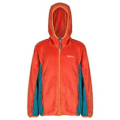 Regatta - Girls Orange cuddly hooded fleece
