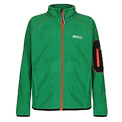 Regatta - Girls Highland green leaper fleece