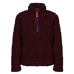 Regatta - Boys Burgundy rapid half zip fleece