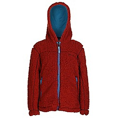 Regatta - Boys Burnt orange high roller full zip fleece