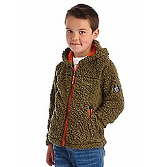 Regatta - Boys Ivy green high roller full zip fleece